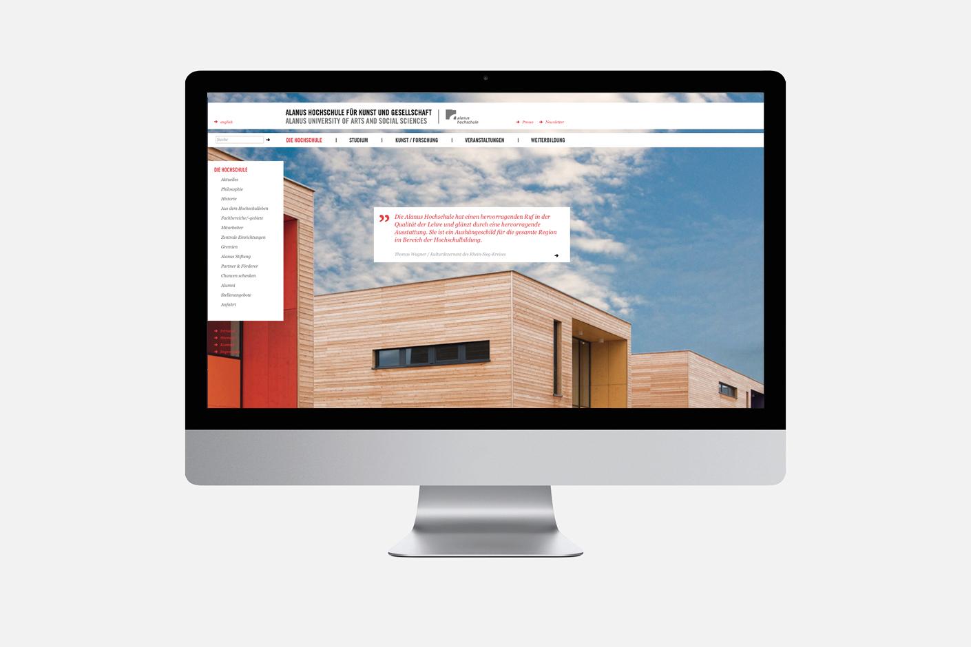 Alanus Hochschule – Website