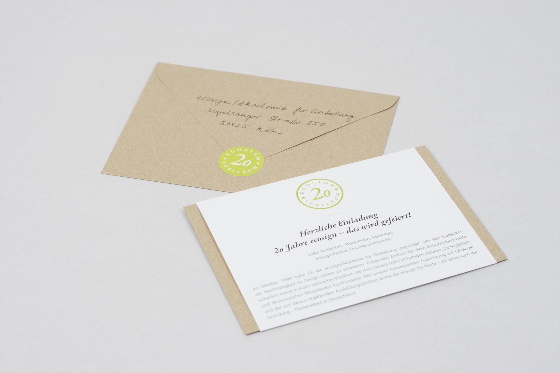 ecosign – Jubiläum Einladung