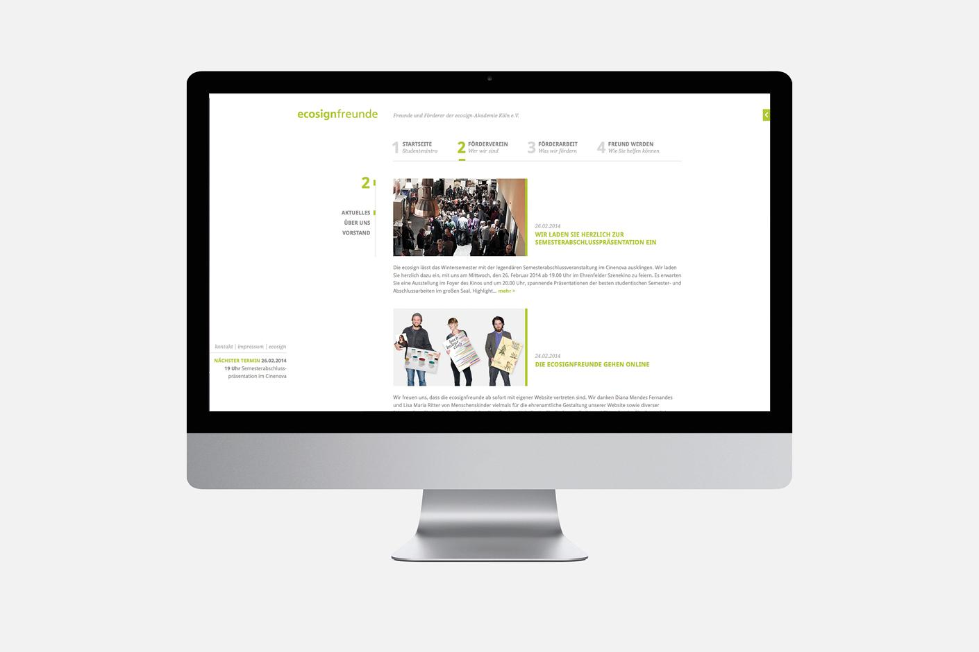 ecosignfreunde – Website