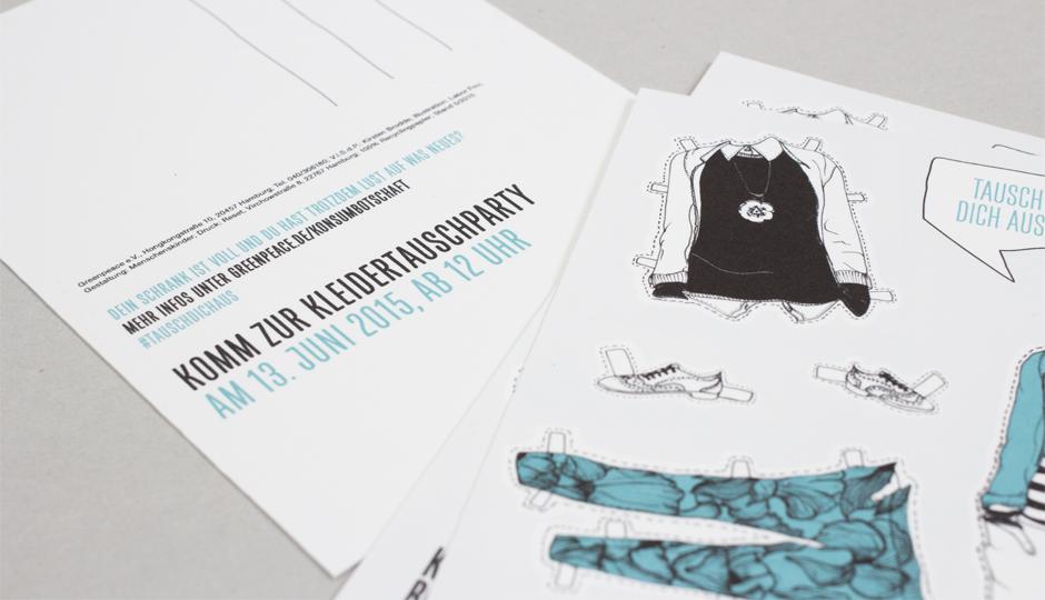 Greenpeace – Konsumbotschaft Postkarte
