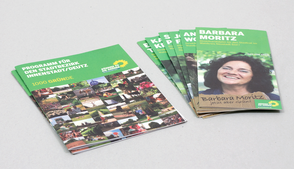 Die Grünen Köln – Wahlkampfflyer