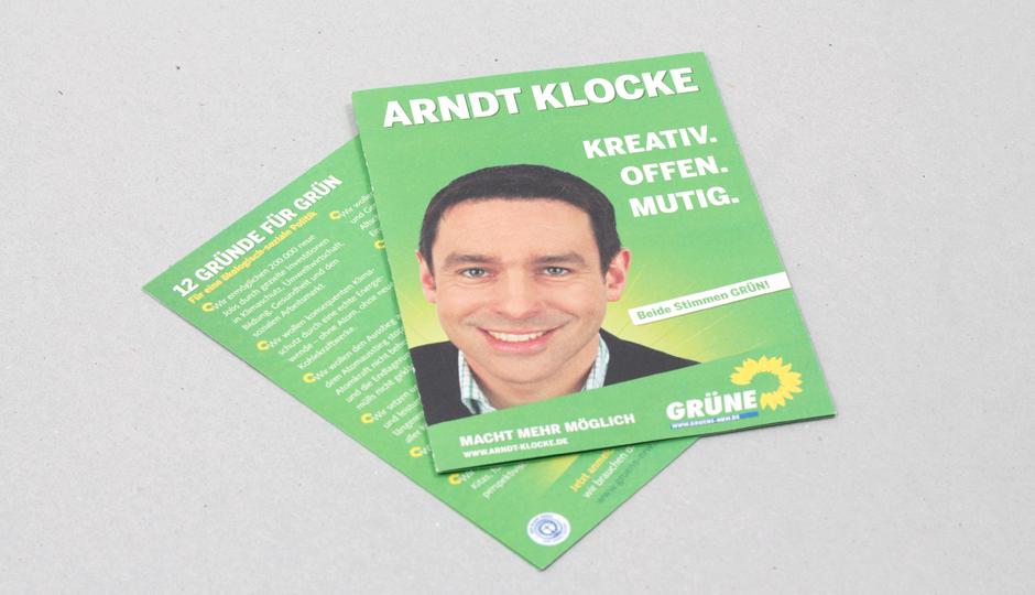 Die Grünen NRW – Wahlkampfflyer