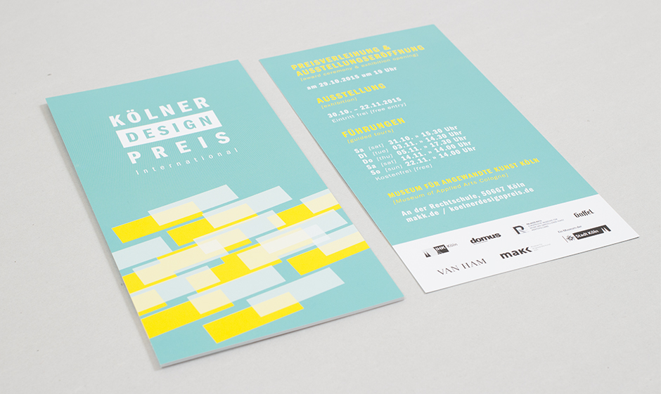Kölner Design Preis – Flyer