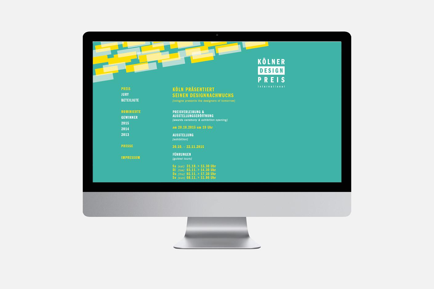 Kölner Design Preis – Website