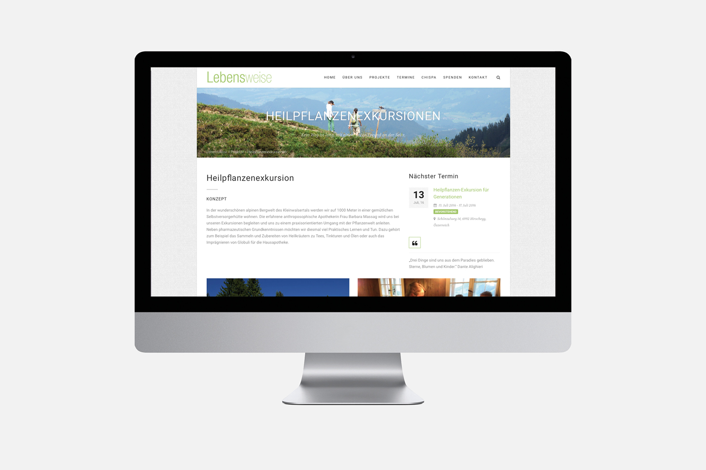 Lebensweise – Website