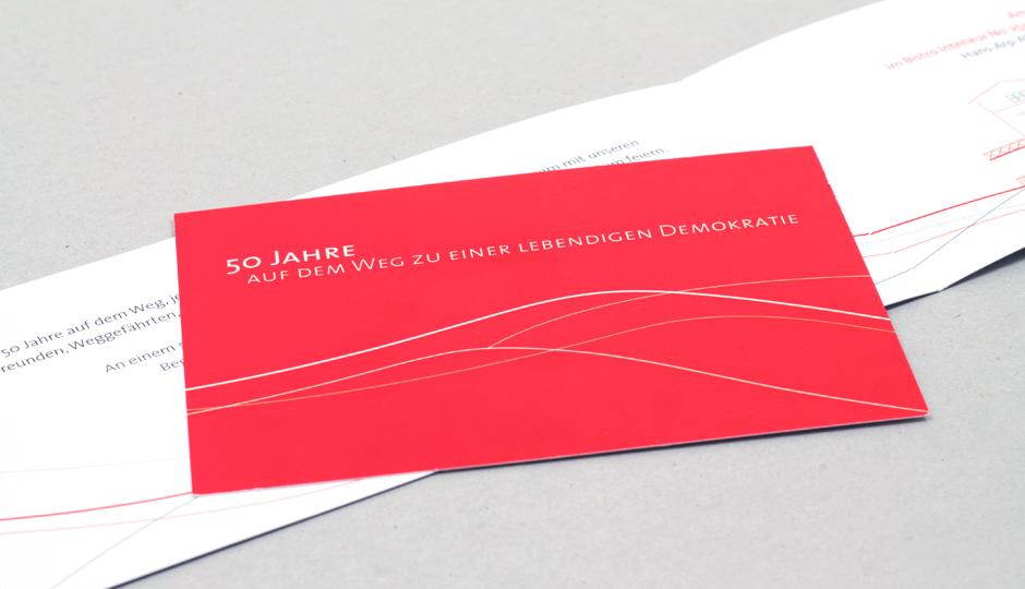 Stiftung Mitarbeit – Jubiläum Einladung