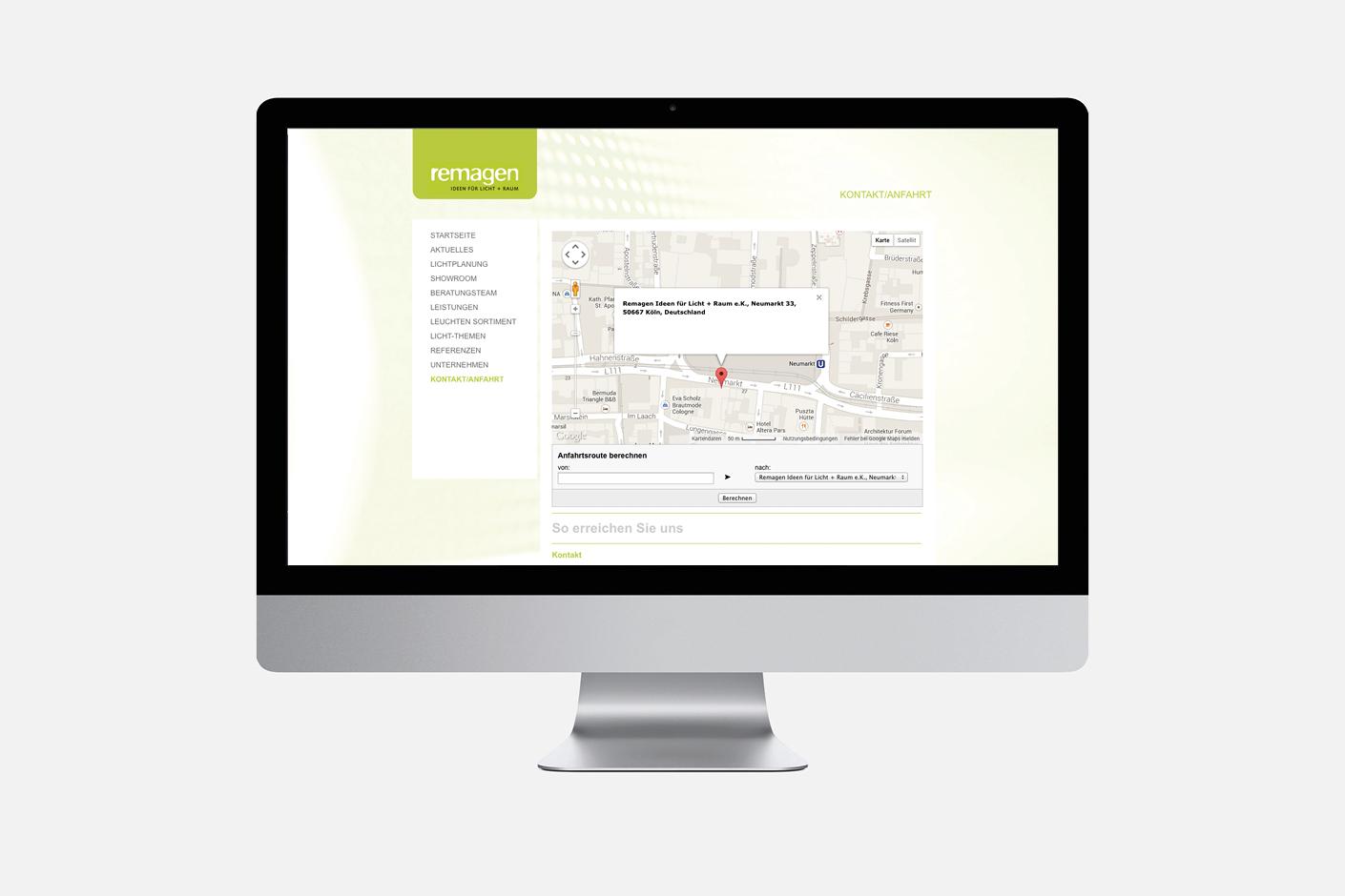 Remagen Licht – Website