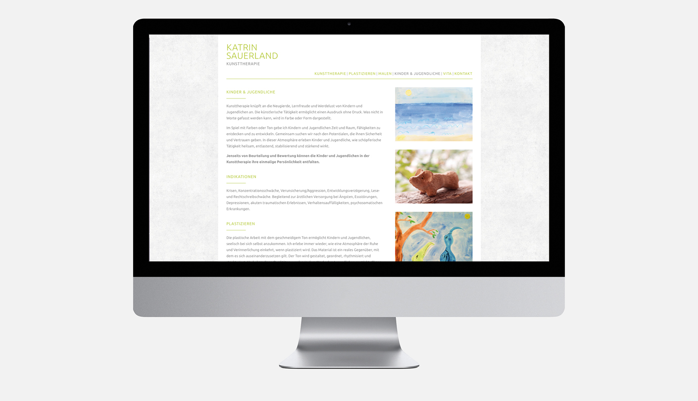 Katrin Sauerland Kunsttherapie – Website