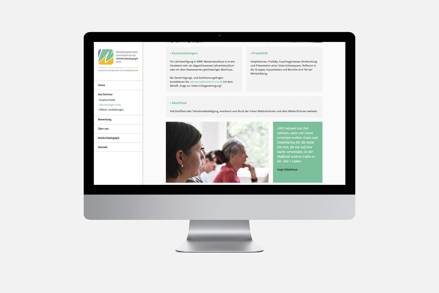 Waldorflehrerseminar – Website
