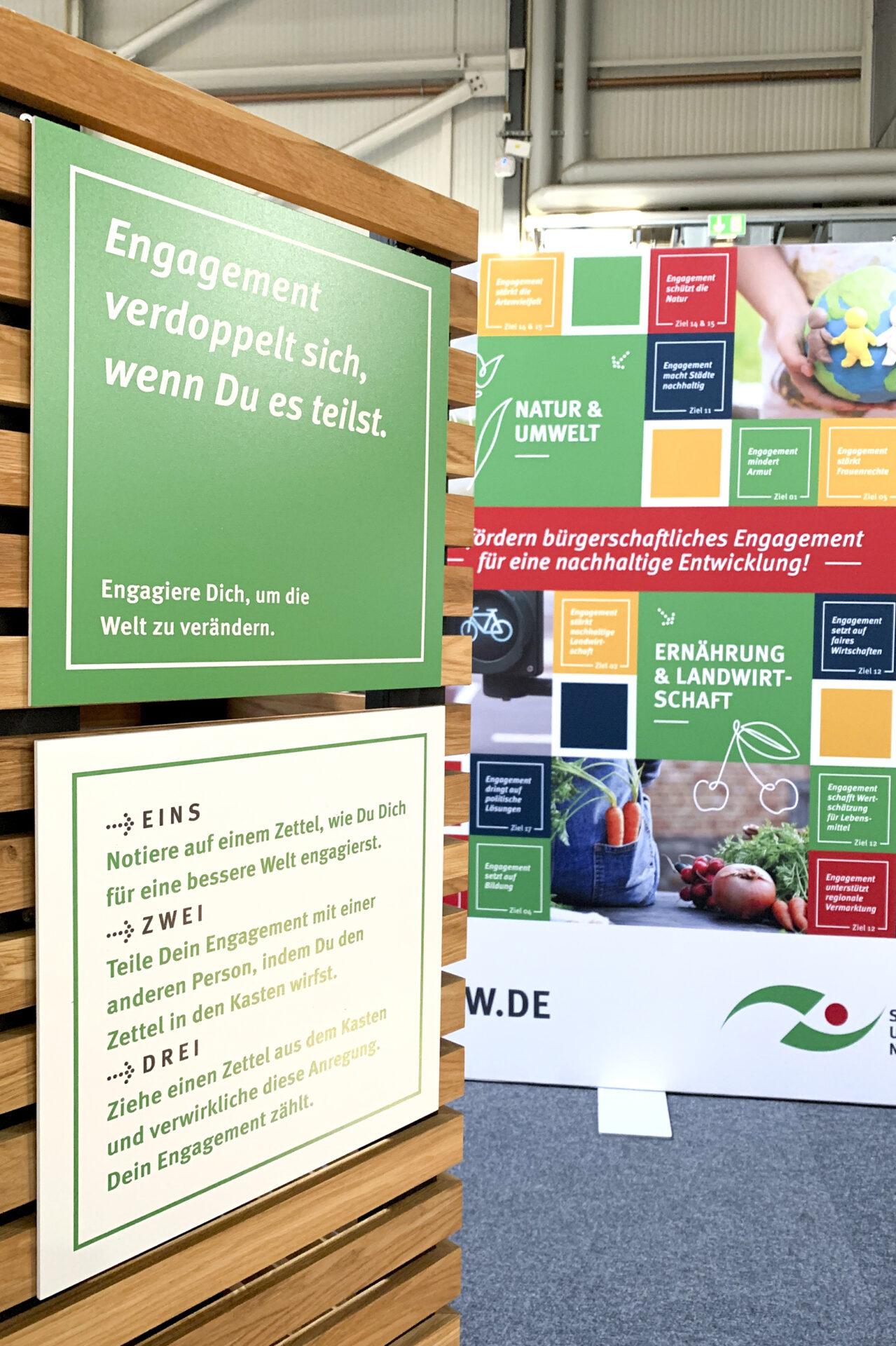 Stiftung Umwelt und Entwicklung Messestand Evangelischer Kirchentag 2019