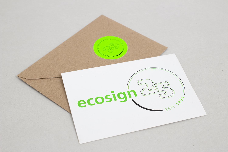 ecosign – 25. Jubiläum Medien